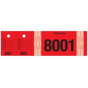 Stock Numbers with Matching Key Tags - Red