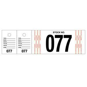Stock Numbers with Matching Key Tags - White