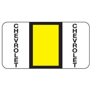 ServiceFile Franchise Labels on Rolls - Chevrolet