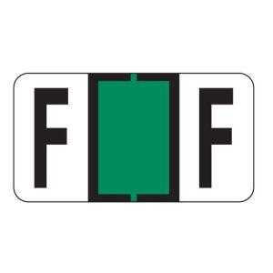 ServiceFile Labels on Sheets - Alpha Letter - F