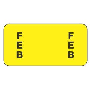 ServiceFile Month Labels on Sheets - February
