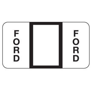 ServiceFile Franchise Labels on Rolls - Ford