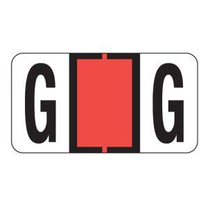 ServiceFile Labels on Sheets - Alpha Letter - G
