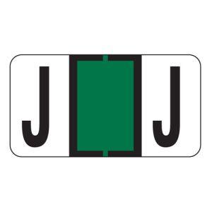 ServiceFile Labels on Sheets -  Alpha Letter - J