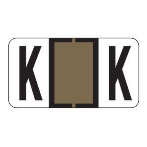 ServiceFile Labels on Sheets - Alpha Letter - K