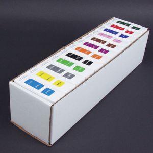 ServiceFile Month Labels on Rolls Kit
