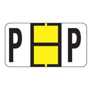 ServiceFile Labels on Sheets - Alpha Letter - P
