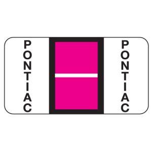 ServiceFile Franchise Labels on Rolls - Pontiac