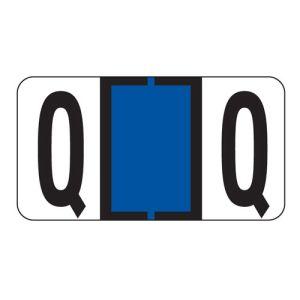 ServiceFile Labels on Sheets - Alpha Letter - Q