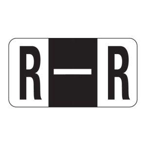 ServiceFile Labels on Sheets - Alpha Letter - R