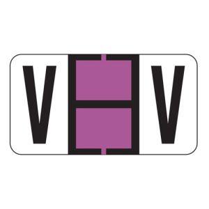 ServiceFile Labels on a Roll - Alpha Letter - V