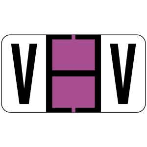 ServiceFile Labels on Sheets - Alpha Letter - V