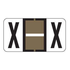 ServiceFile Labels on Sheets - Alpha Letter - X