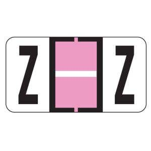ServiceFile Labels on Sheets - Alpha Letter - Z