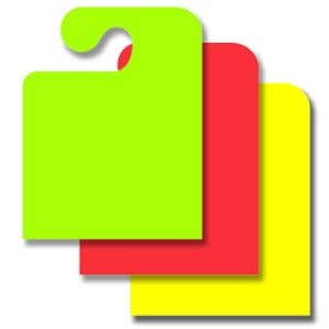 Fluorescent Mirror Hang Tags - Hook Style - Blank