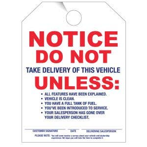 Mirror Hang Tag - Vehicle Delivery