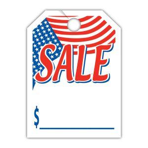 """Patriotic Mirror Hang Tag - """"Sale"""""""