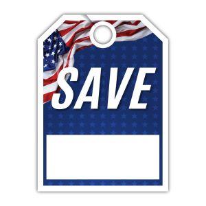 """Patriotic Mirror Hang Tag - """"Save"""""""