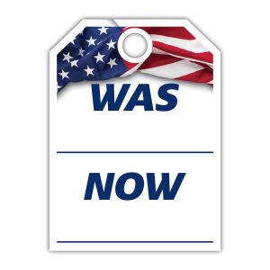 """Patriotic Mirror Hang Tag - """"Was Now"""""""