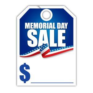 """Mirror Hang Tag - """"Memorial Day Sale"""""""