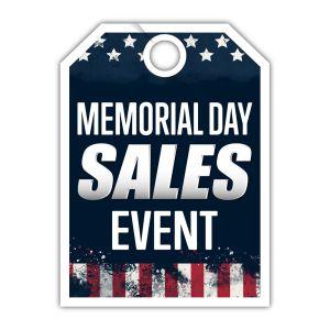 "Mirror Hang Tag - ""Memorial Day Sales Event"""