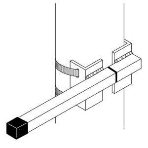 Interceptor Bracket for Single Panel Vertical Flags