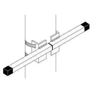 Interceptor Bracket for Double Panel Vertical Flag Set