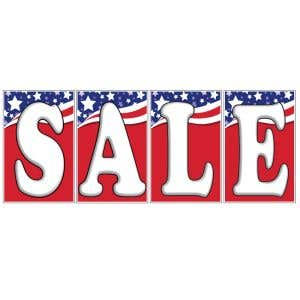 Jumbo Underhood Sign Kit - 3D Patriotic Stars