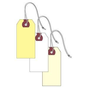 Blank Key Tags with String