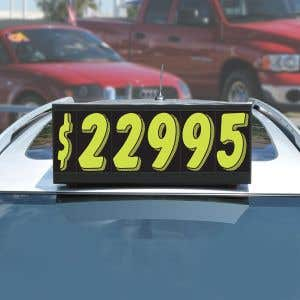 Magnetic Car Topper Sign Kits with Number Stickers