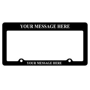 License Plate Frames - Raised Print - Style B