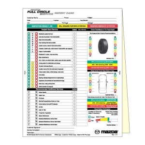 Mazda Multi Point Vehicle Inspection Form