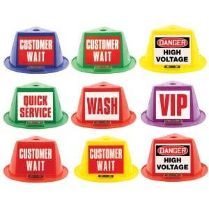 Magnetic Car Top Hats with Message Panels