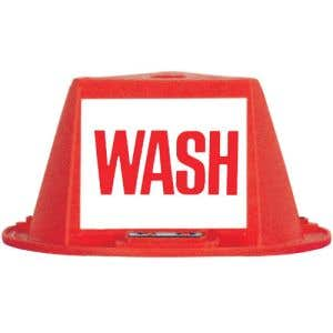 """Magnetic Roof Hat with Message Panels - """"Wash"""""""