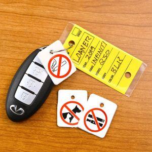 No Smoking No Pets Reminder Key Fobs