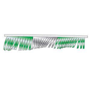 Metallic Fringe Pennant Streamer - Green, Silver