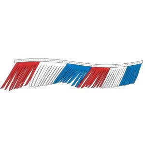 Fiesta Pennant Streamer - Red, White, Blue