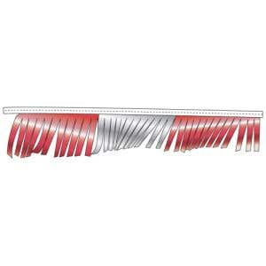 Metallic Fringe Pennant Streamer - Red, Silver