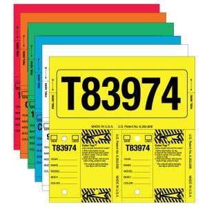 Stock Number Key Tag Sets