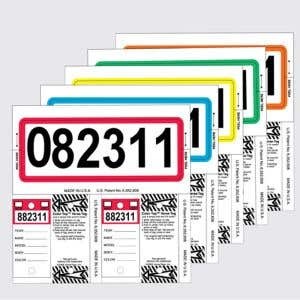 Color Top Stock Number Key Tag Sets