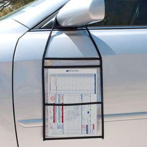 """RO Holder with Pocket - 10"""" w x 13"""" h, Transparent"""