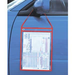 """RO Holder with Strap - 10"""" w x 13"""" h, Transparent"""