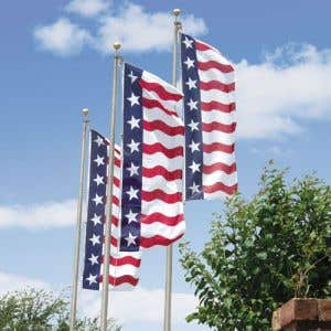 Patriotic Theme Flag with Grommets - Stars