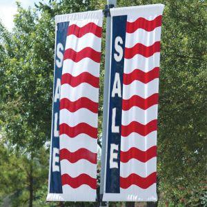 "Patriotic Theme Flag with Sleeves - ""Sale"""