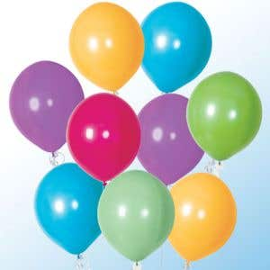 """17"""" Latex Balloons - Outdoor Use, Tropical Colors"""