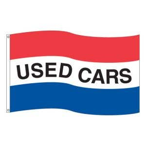 """Horizontal Tricolor Flag - """"Used Cars"""""""
