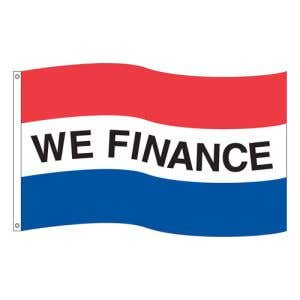 "Horizontal Tricolor Flag - ""We Finance"""