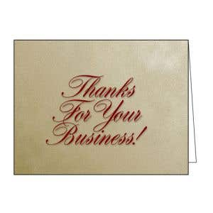 """Thank You Card - """"Thanks For Your Business!"""""""