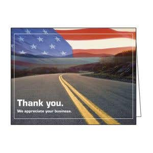 Thank You Card - Flag and Road