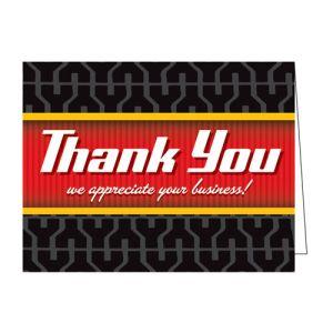 Thank You Card - Tire Tread Design